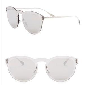 porio Armani – 43mm Round Acetate Frame Sunglasses